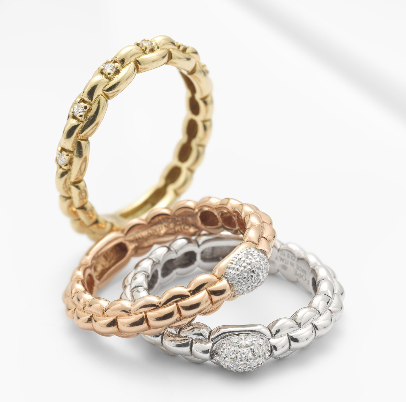Fope Eka Tiny collection stacking rings   JCK On Your Market
