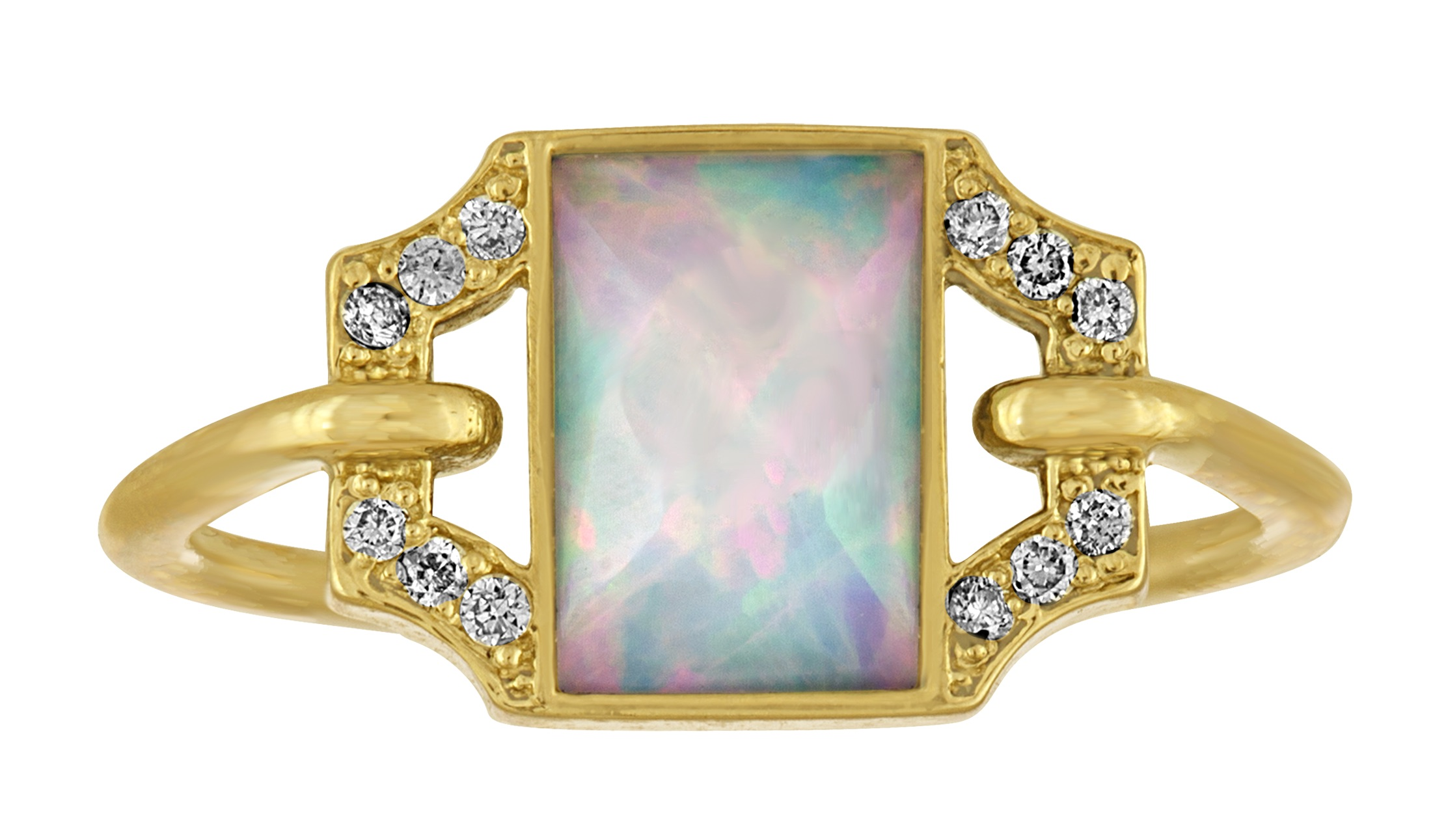 Amy Glaswand opal Petite Edge ring | JCK On Your Market