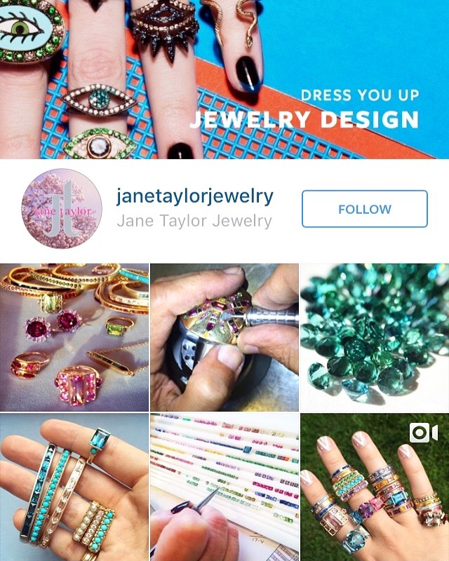Jane Taylor Jewelry instagram | JCK Social Settings