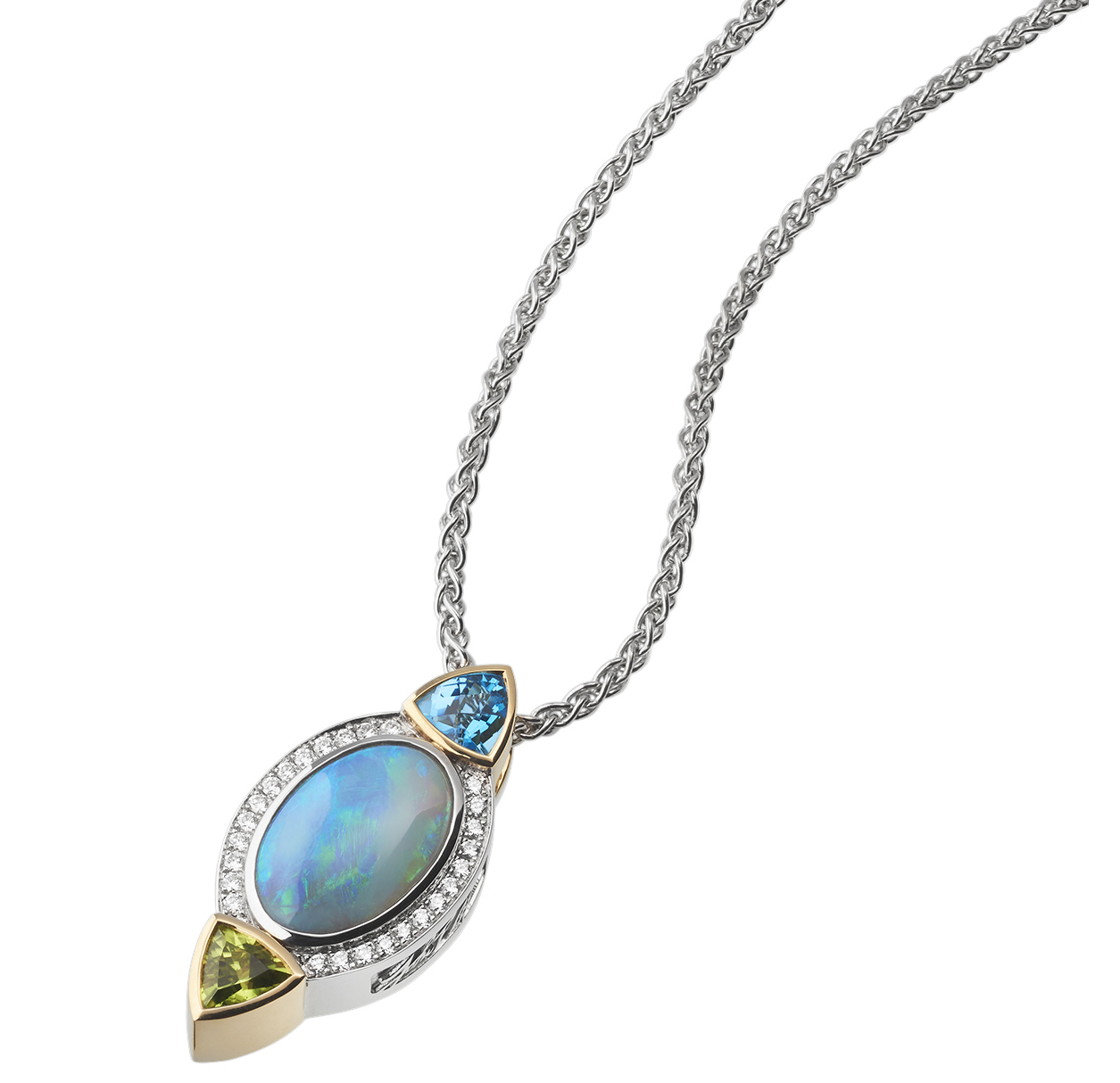 John Atencio Signature opal, topaz, and peridot pendant | JCK On Your Market