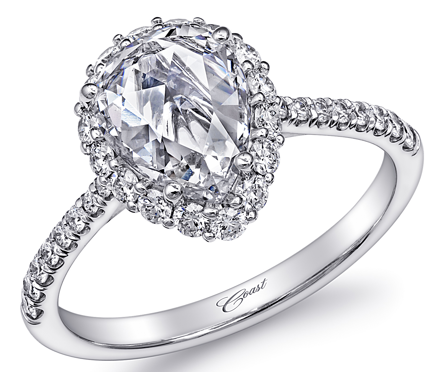 Coast Diamond rose-cut pear diamond engagement ring #BrittsPick | JCK On Your Market