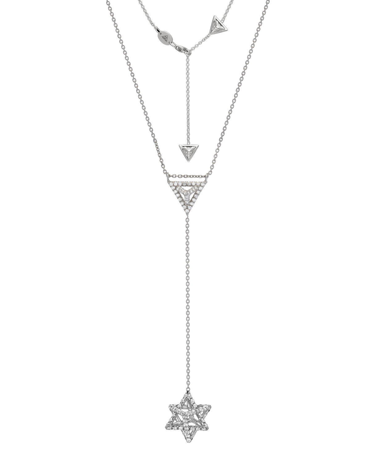 Merkaba Light platinum Y necklace | JCK On Your Market