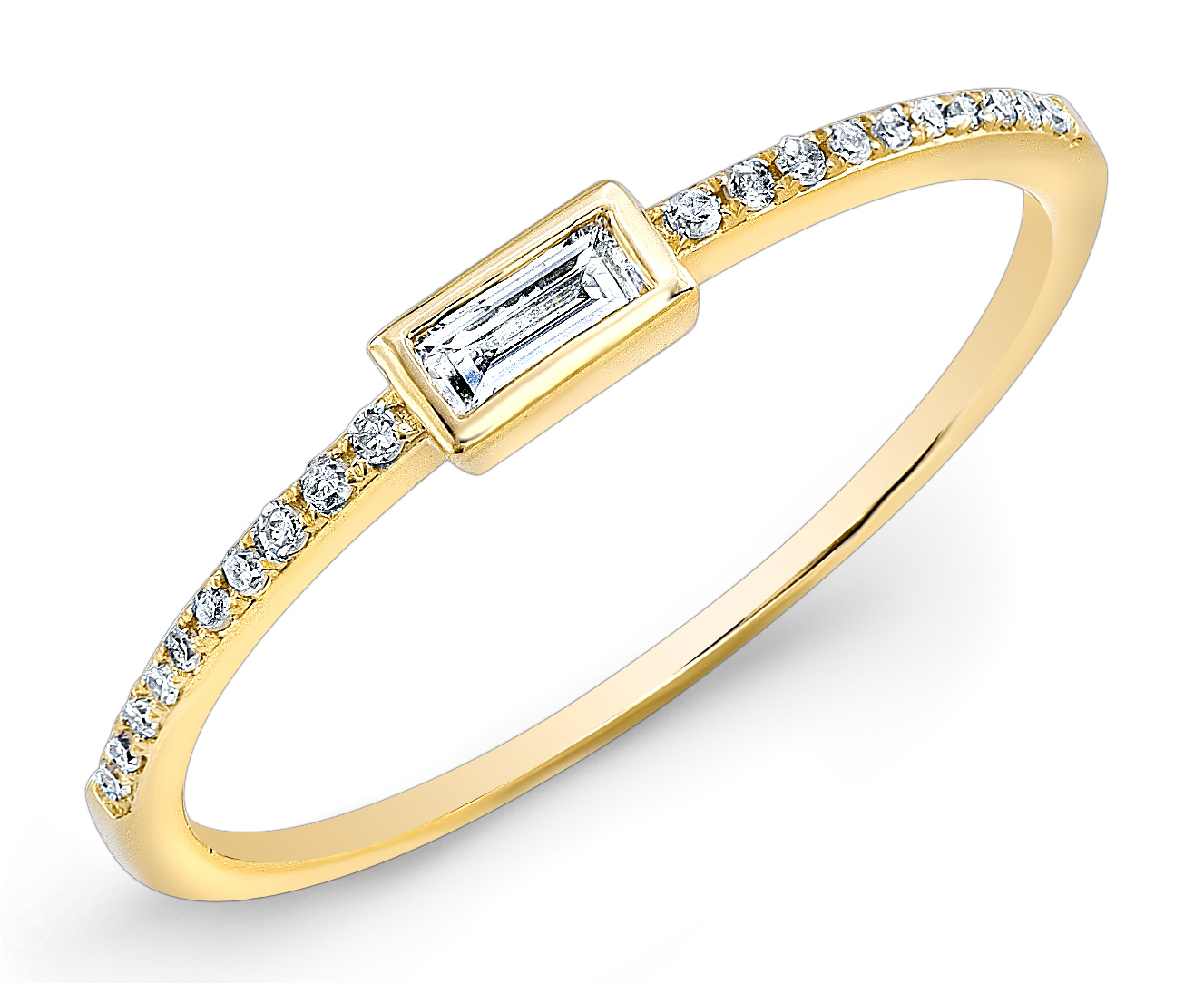 Anne Sisteron diamond baguette ring | JCK On Your Market