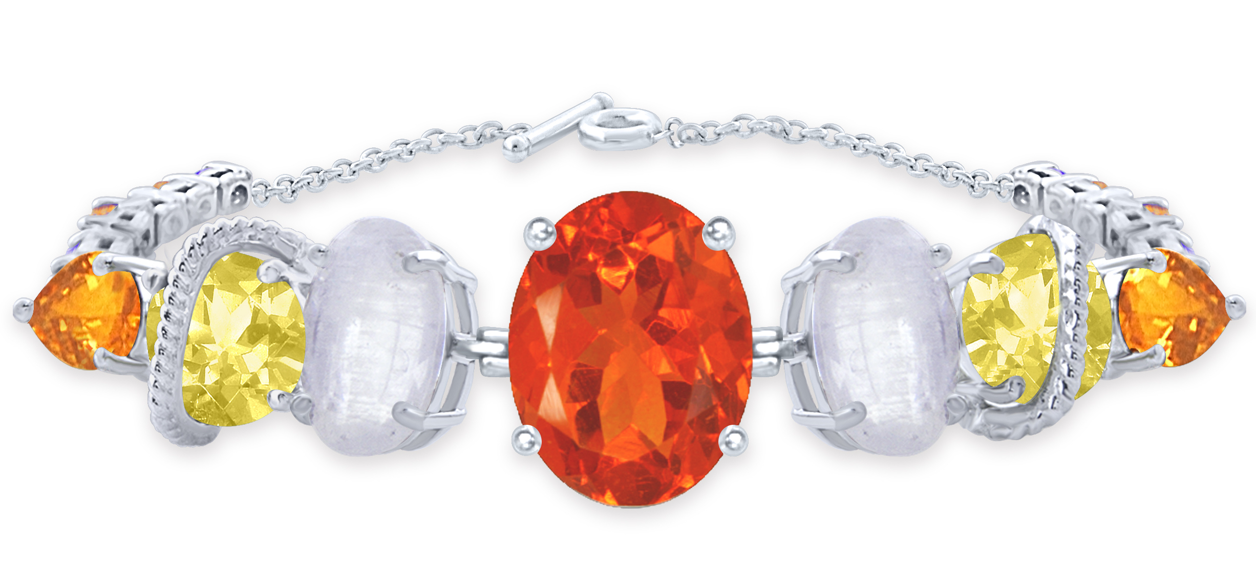 Arya Esha one-of-a-kind bracelet with fire opal and moonstone #BRITTSPICK | JCK On Your Market