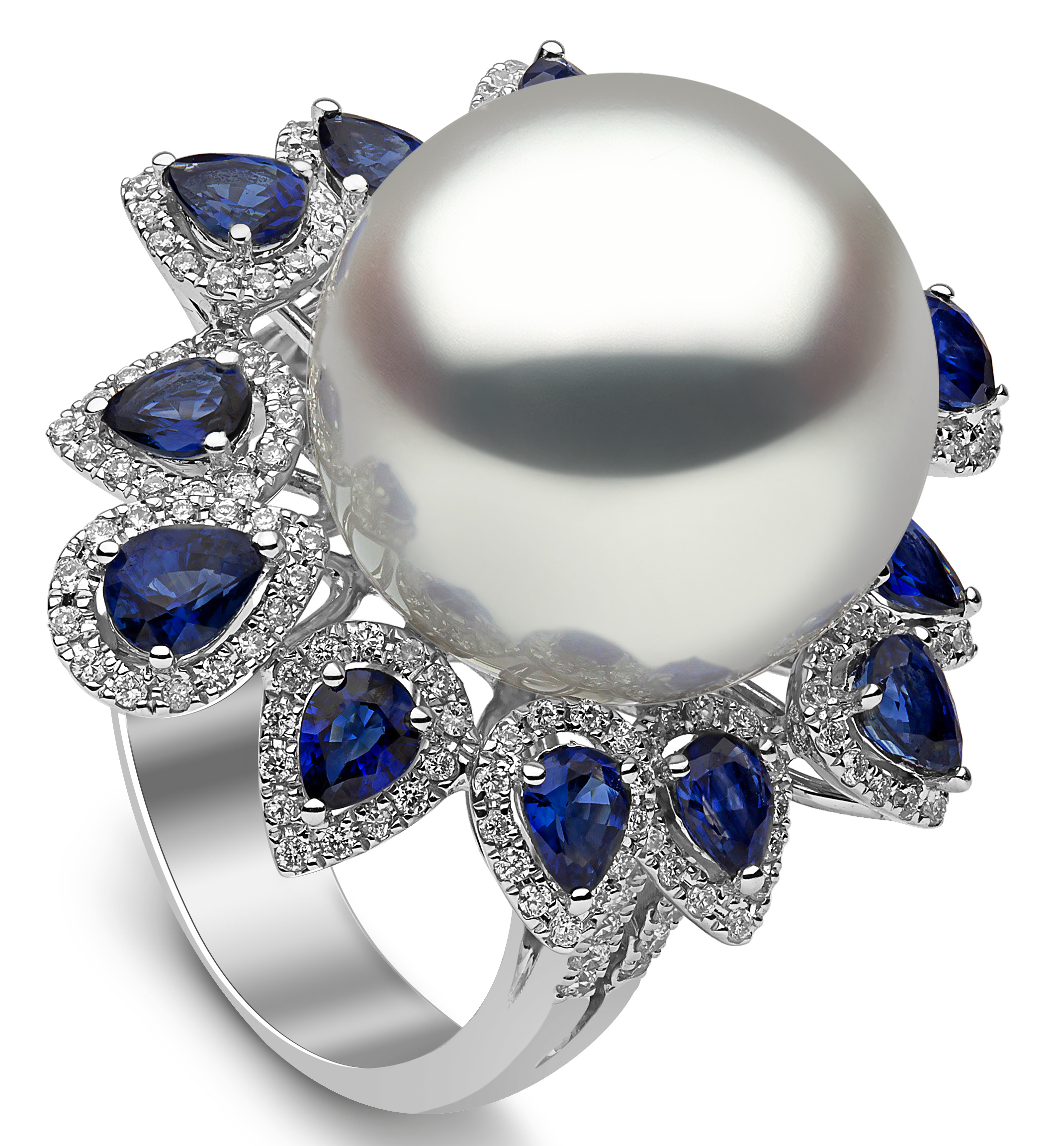 Yoko London pearl and sapphire ring | JCK On Your Market