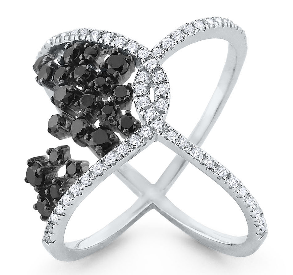 KC Designs black diamond loop ring | JCK On Your Market