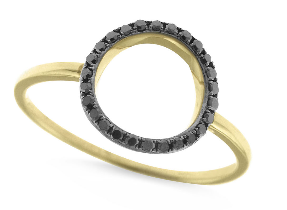 KC Designs black diamond circle ring | JCK On Your Market