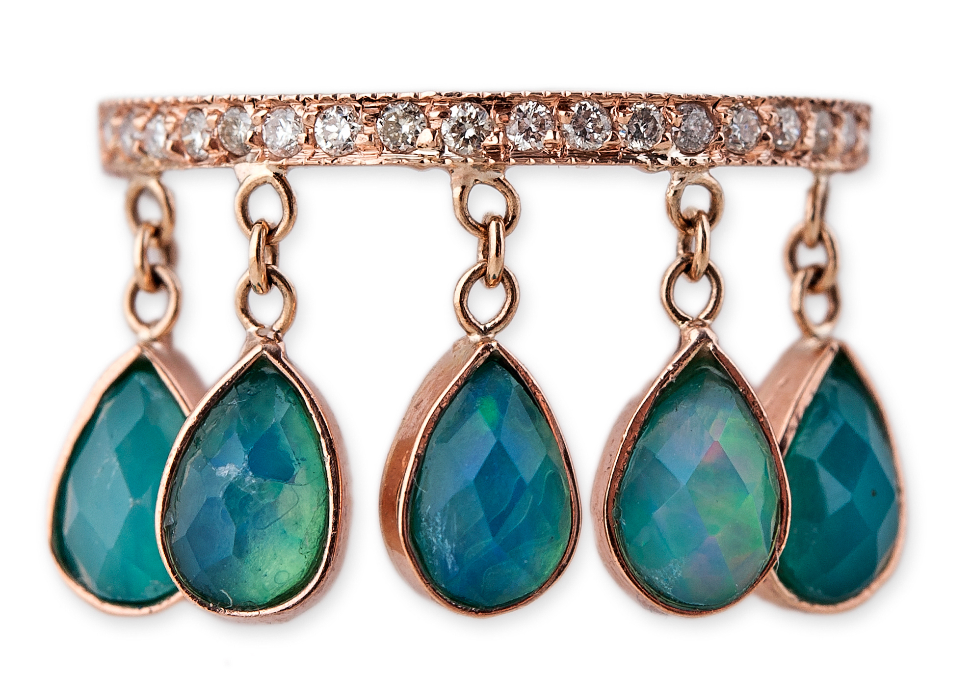 Jacquie Aiche five-stone opal Shaker ring | JCK On Your Market