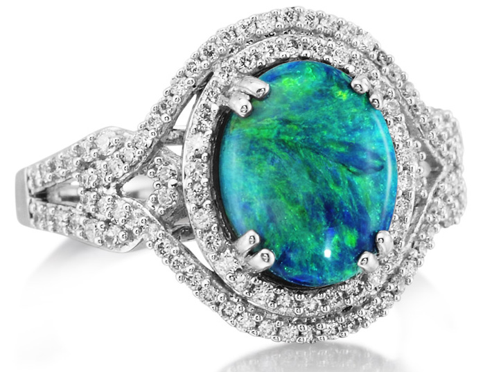 Parlé Jewelry Design black opal and diamond ring | JCK On Your Market