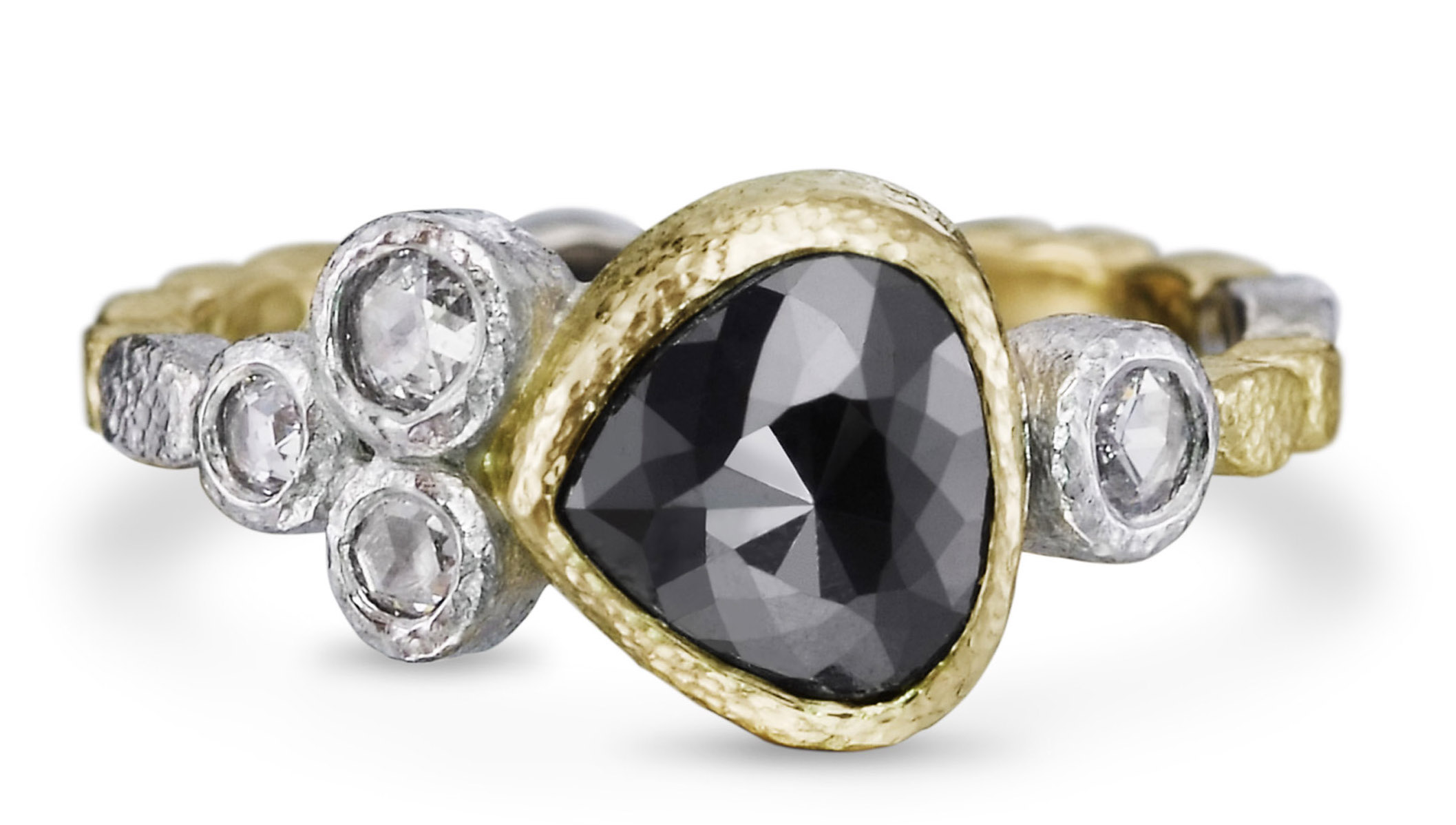 Rona Fisher Skinny Pebbles black diamond ring | JCK On Your Market