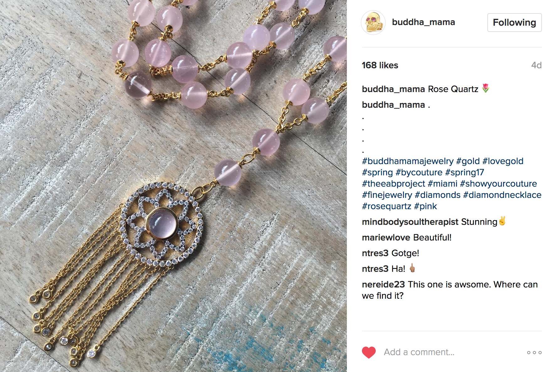 Buddha Mama Instagram | JCK Social Setting