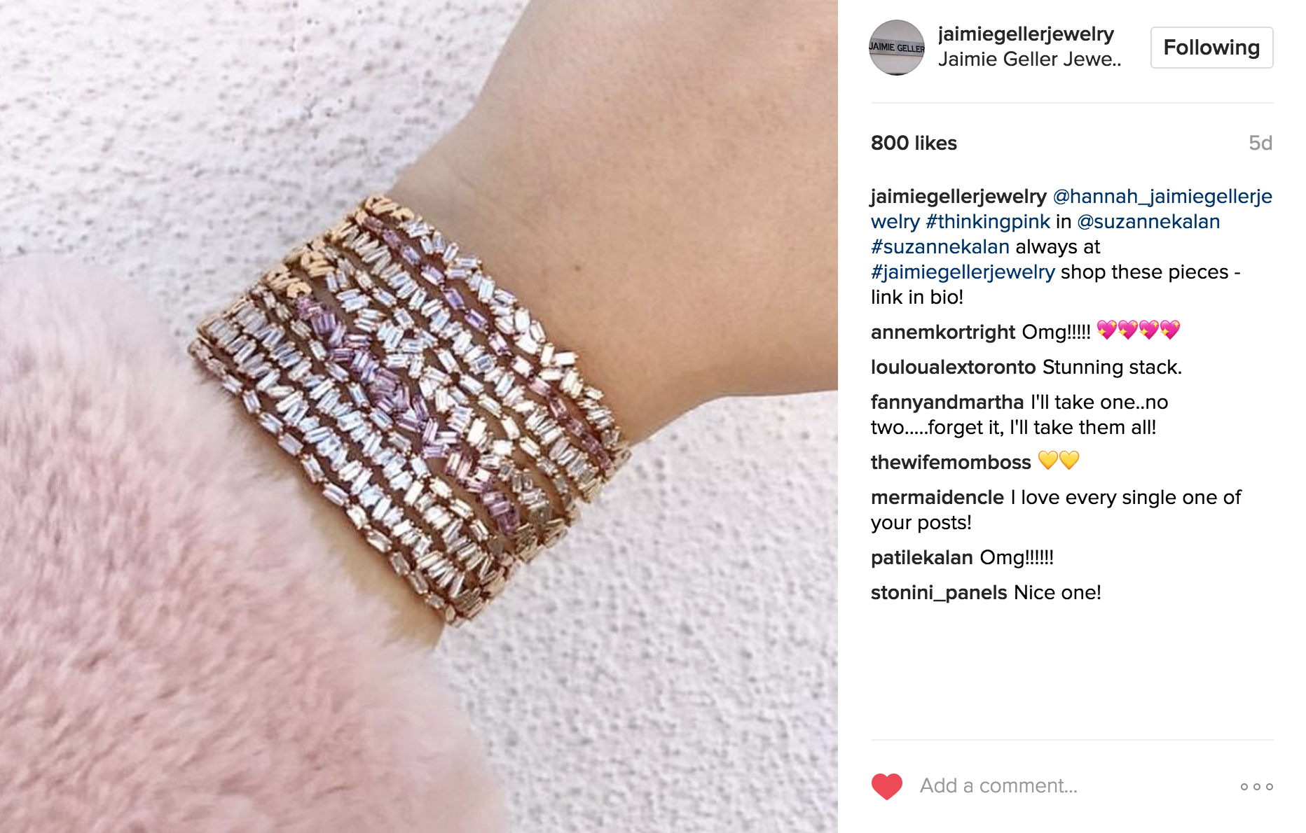 Jamie Geller Jewelry Instagram | JCK Social Setting