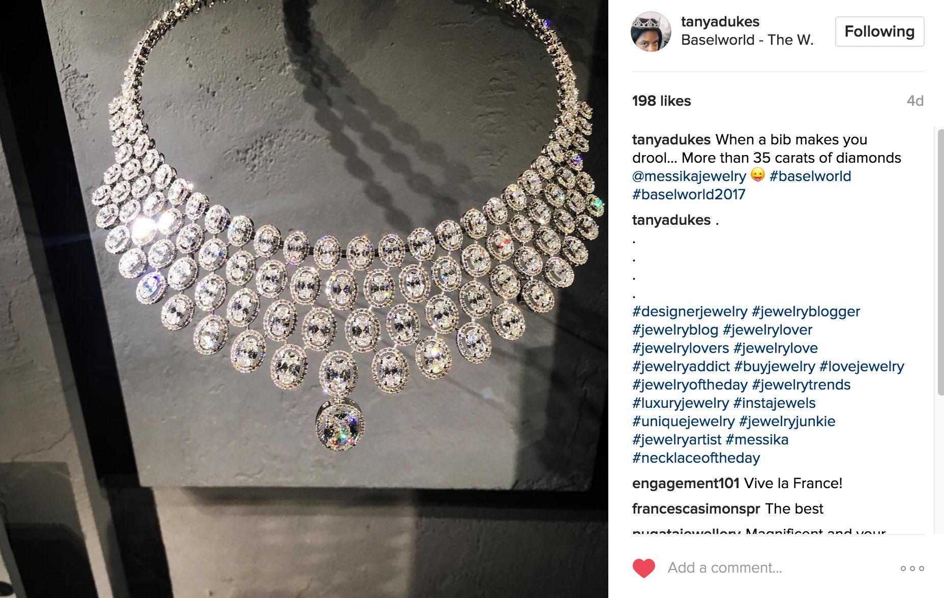 Tanya Dukes Instagram | JCK Social Setting