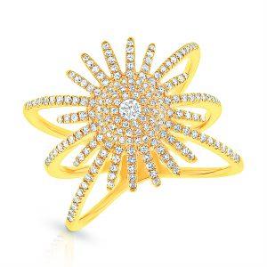 Shy Creation Kate starburst ring | JCK