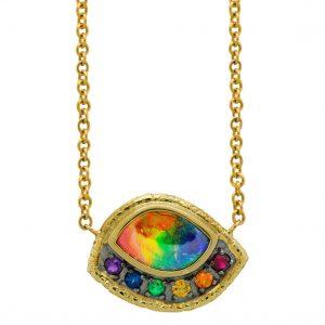 Susan Wheeler rainbow ammolite necklace | JCK On Your Market