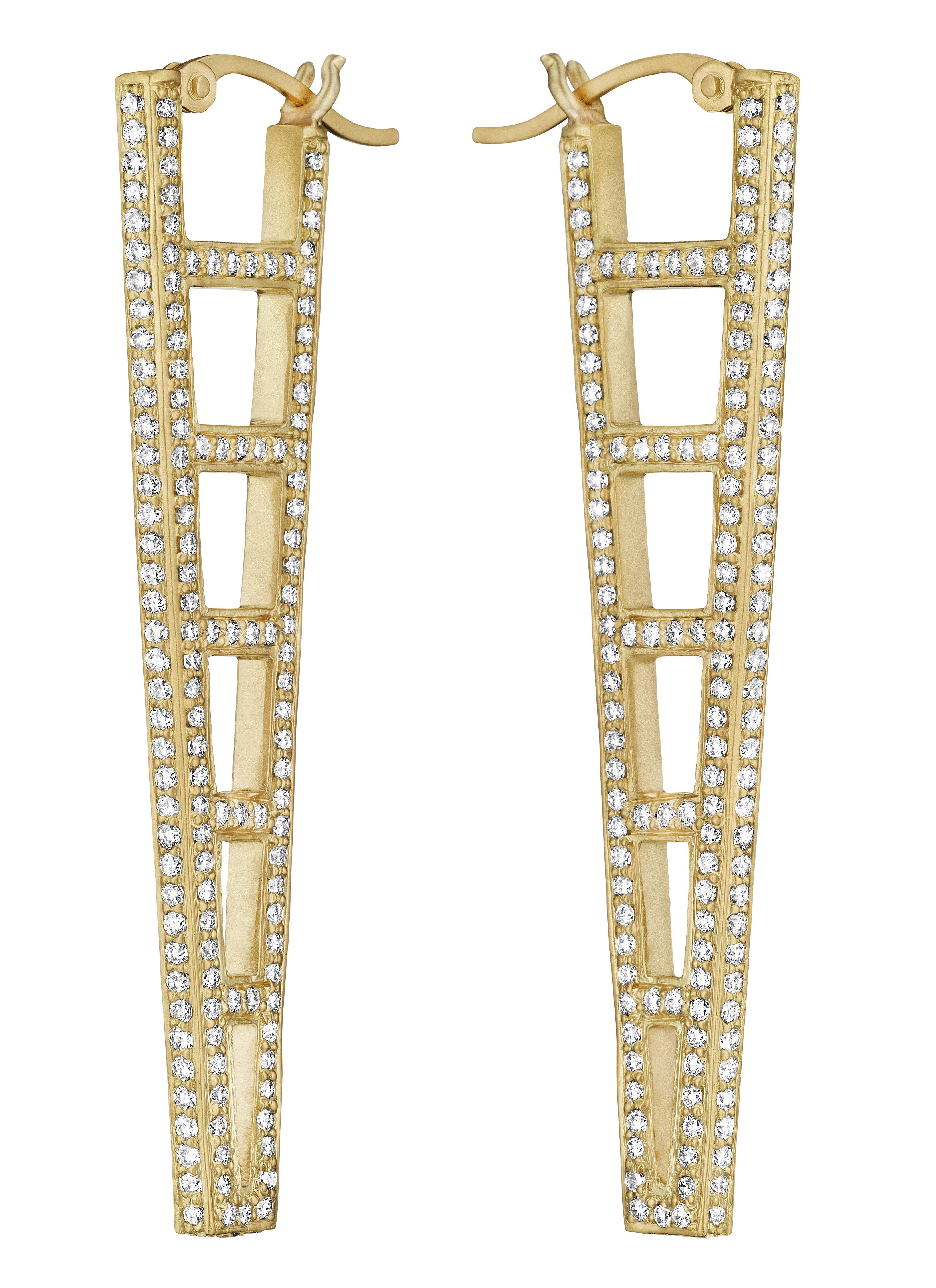 Doryn Wallach diamond ladder earrings | JCK On Your Market