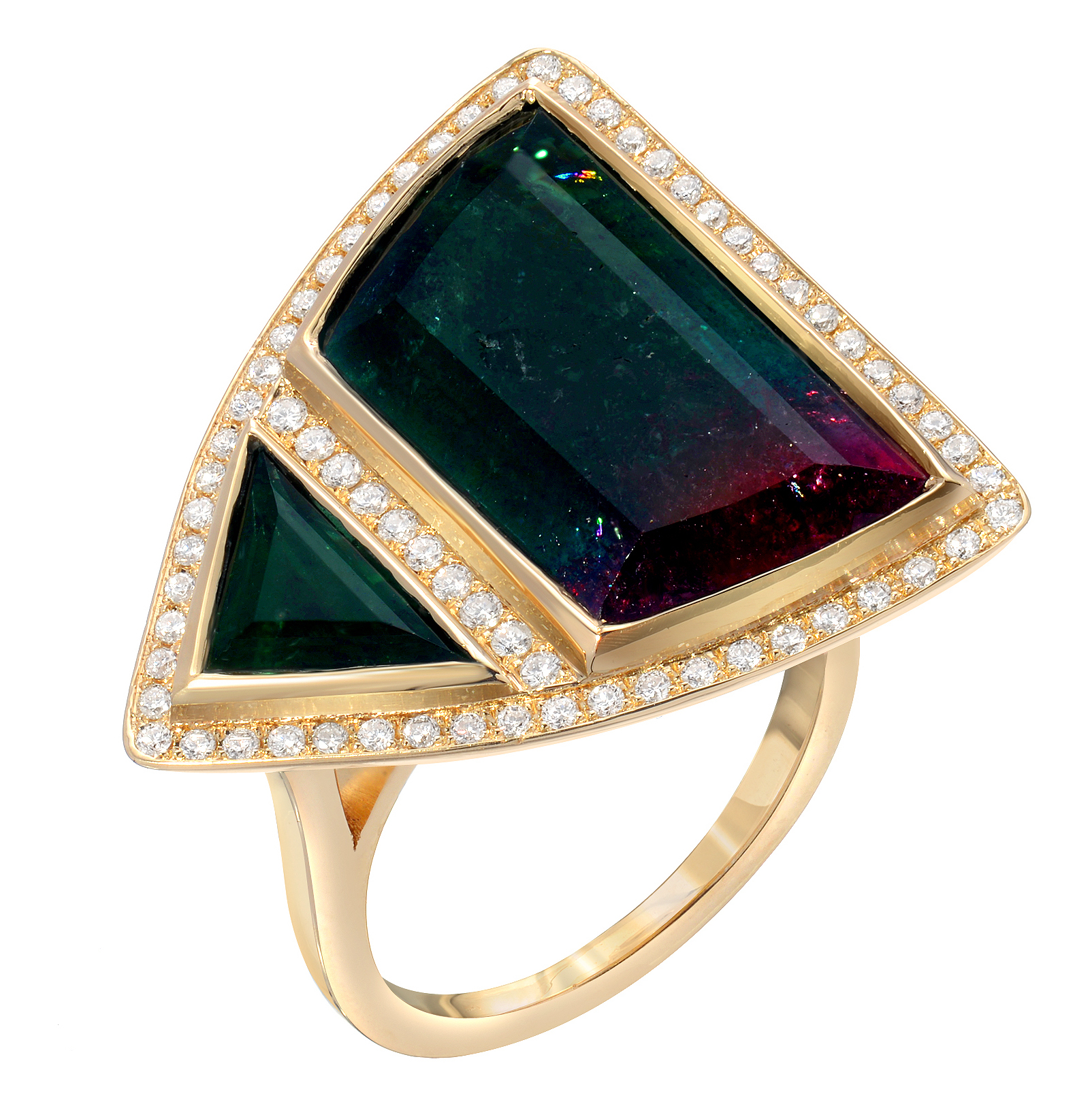 Rock and Gems Jewelry bicolor tourmaline ring | JCK On Your Market