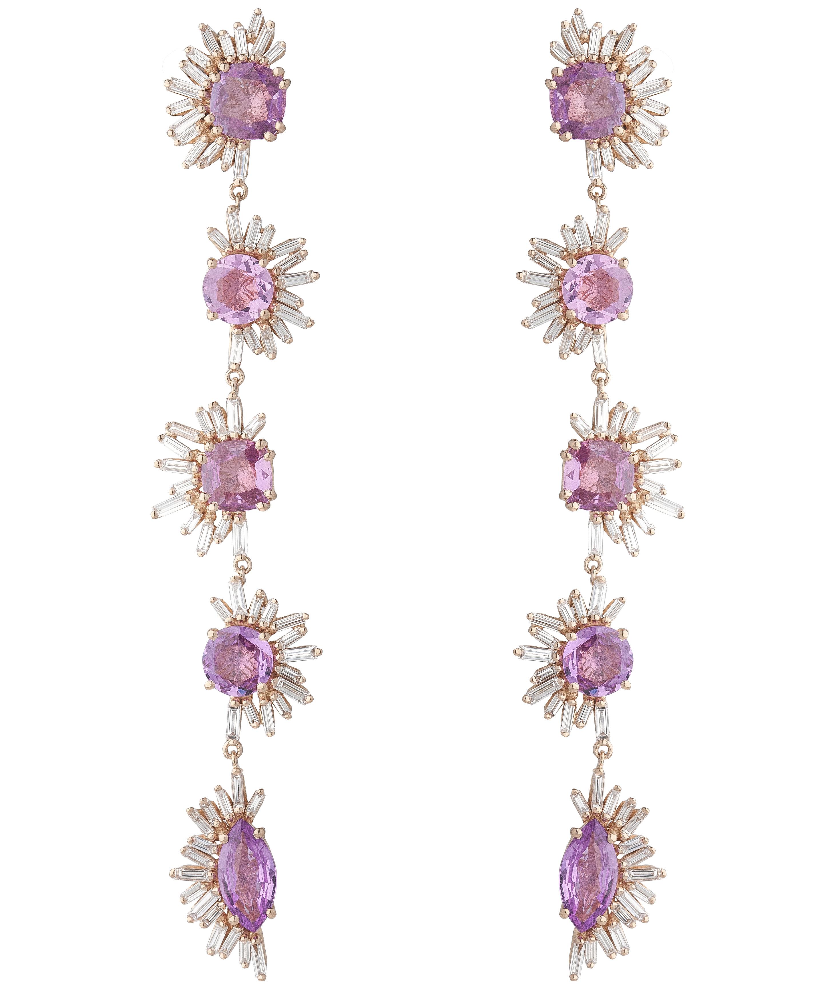 Suzanna Kalan Fireworks pink sapphire earrings | JCK On Your Market