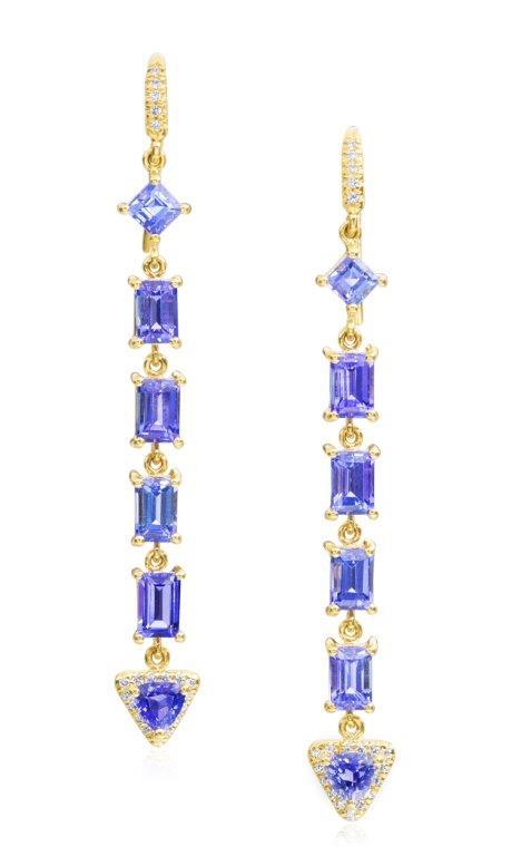 Mixed shape earrings