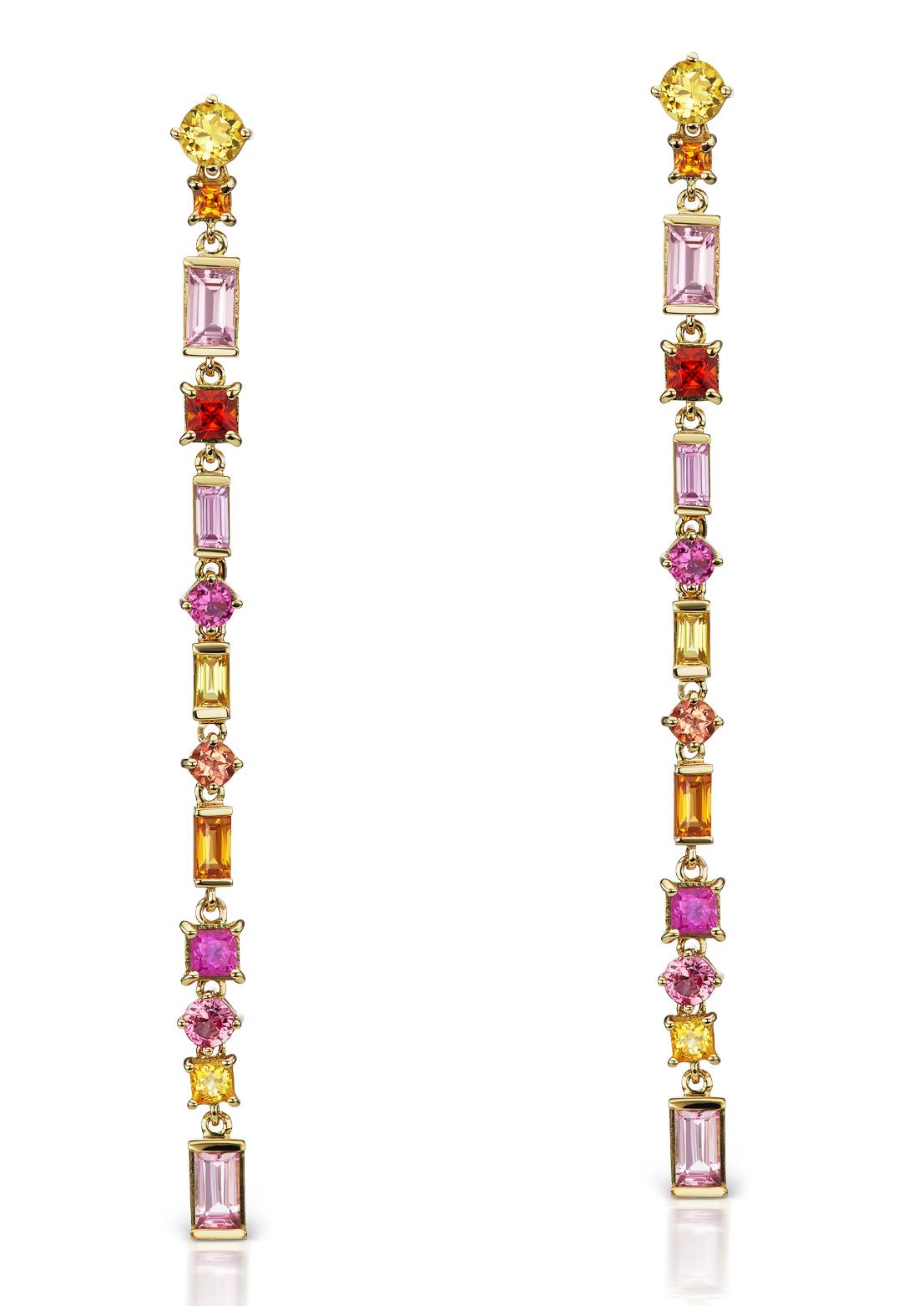 Linear Aerial Silk earrings