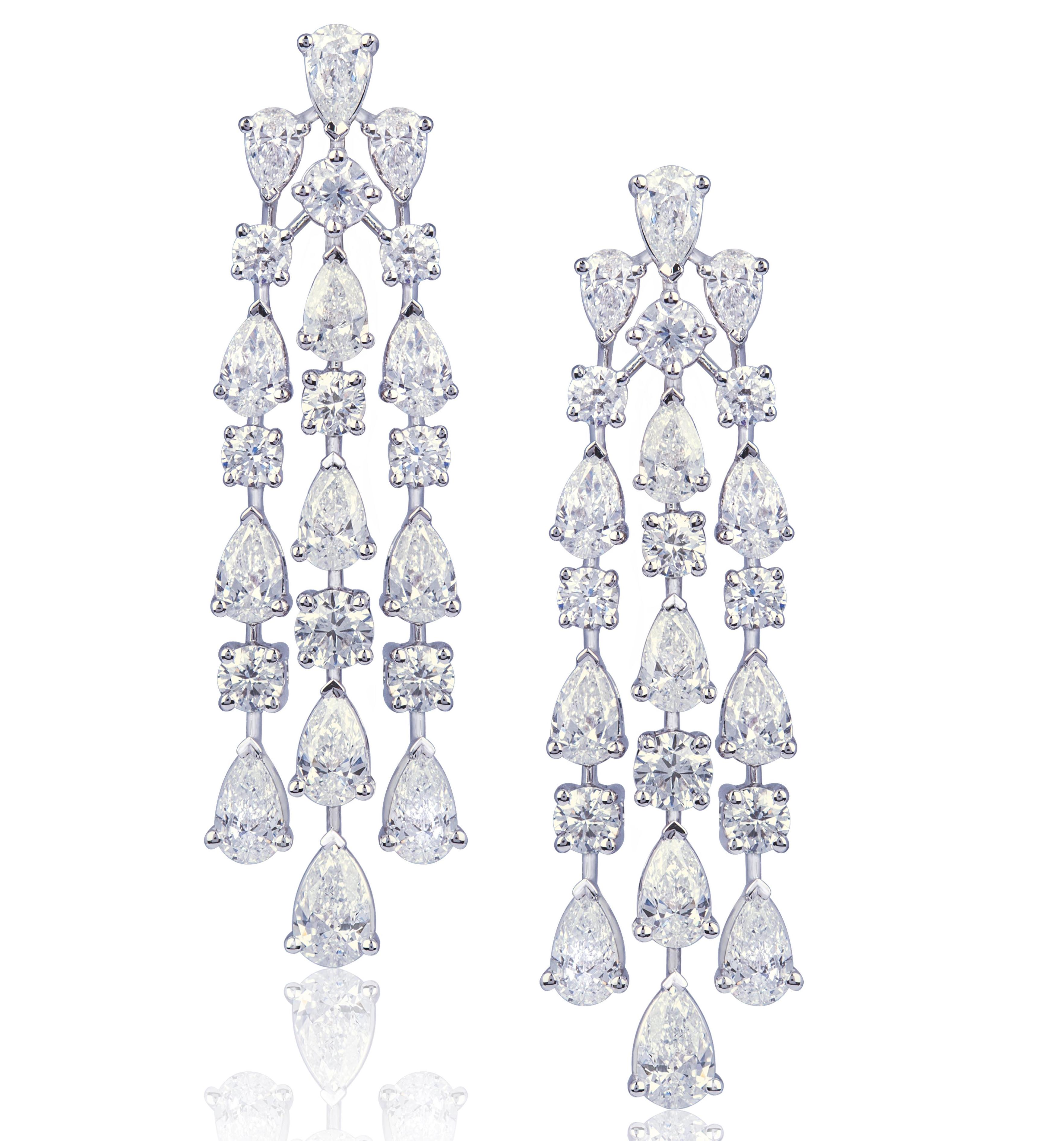 Red Diamond Chandelier Earrings: Friday 5: Chandelier Earrings