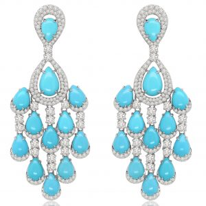 Sutra turquoise chandelier earrings | JCK On Your Market