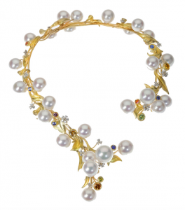 Garden pearl necklace