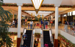 Shopping mall interior during holidays