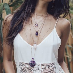Jacquie Aiche jewelry worn by a model