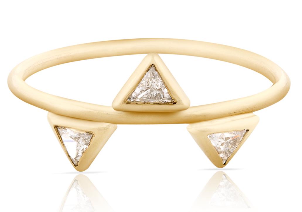 Smith and Mara triple diamond trilliant ring   JCK On Your Market