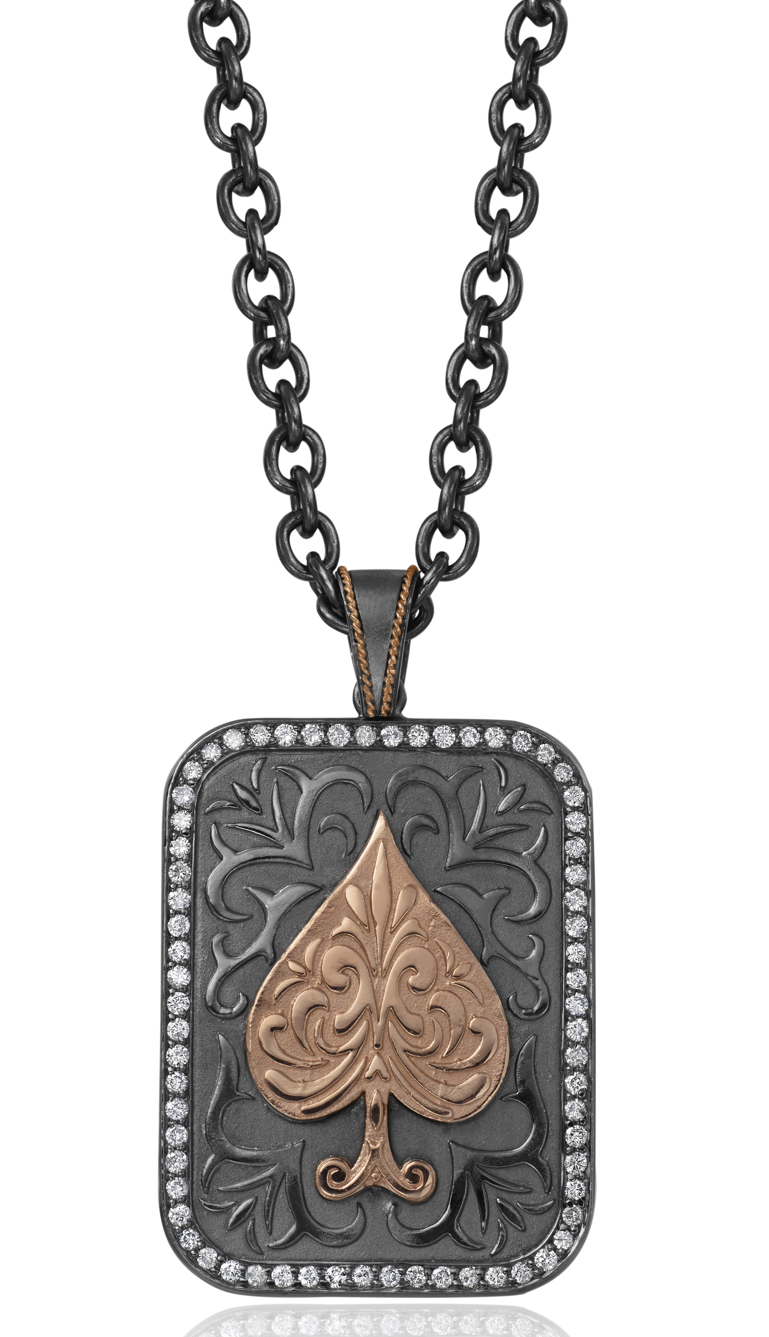 Daniel Bass Ace of Spades dog tag | JCK On Your Market