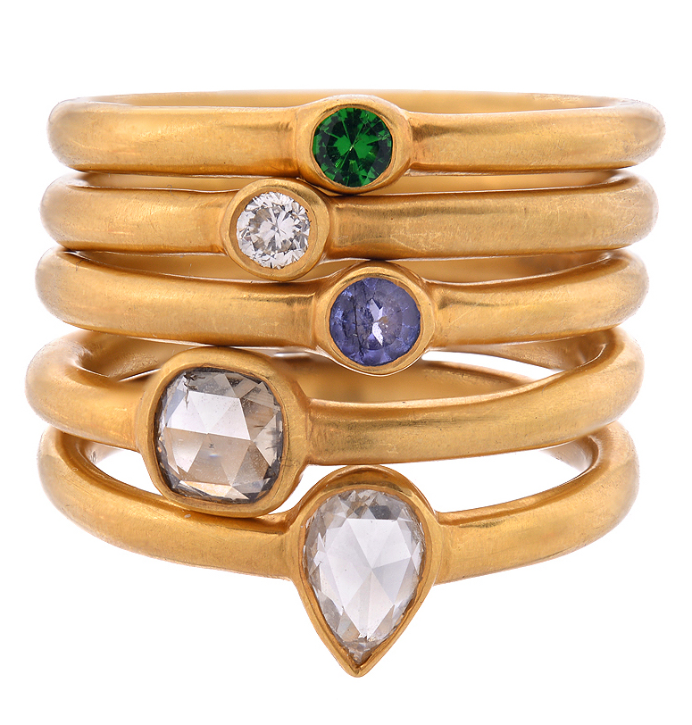 JS Noor stacking rings   JCK On Your Market
