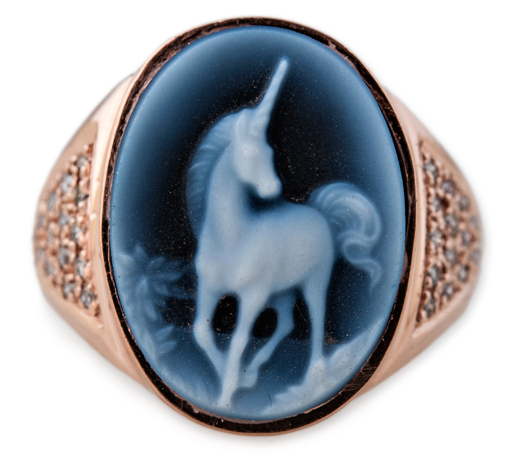 Jacquie Aiche carved agate unicorn cameo ring | JCK On Your Market