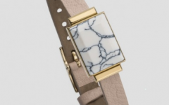 Ringly smart bracelet in marbled white