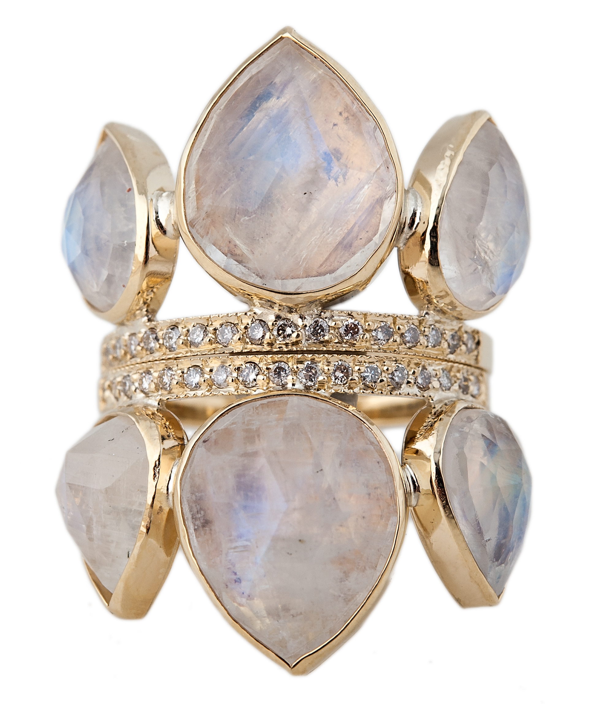 Jacquie Aiche gemstone Petal stack rings | JCK On Your Market