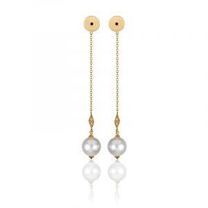 South Sea pearl drop earrings by Anahita