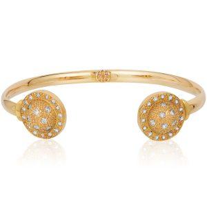Onirikka gold bangle with diamonds