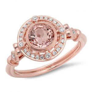 Beverley K morganite engagement ring