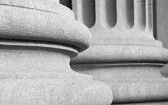 Stone columns outside a courthouse