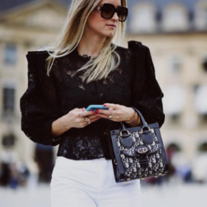 Charlotte Groeneveld wearing signet-style rings