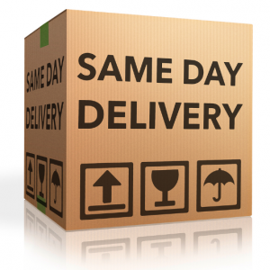 Box labeled Same-Day Delivery