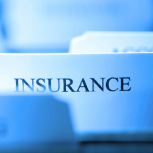 File tabs with one reading insurance
