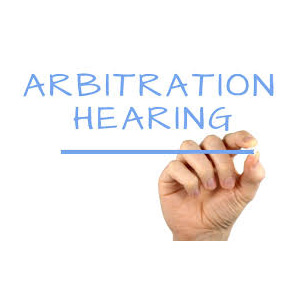 Hand writing arbitration hearing