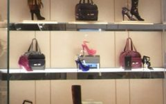 Jimmy Choo storefront with shoes and bags
