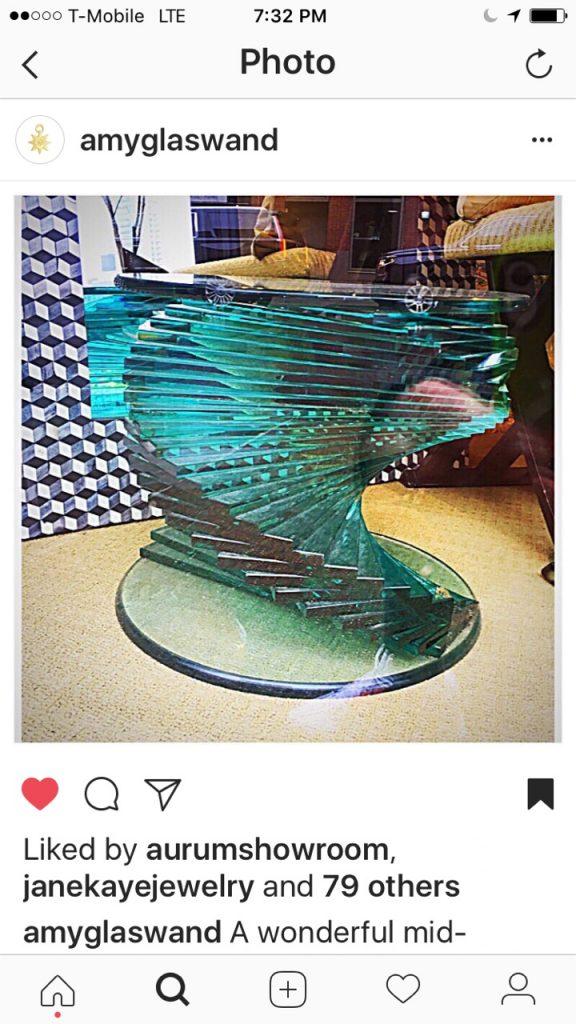 Amy Glaswand Instagram glass table