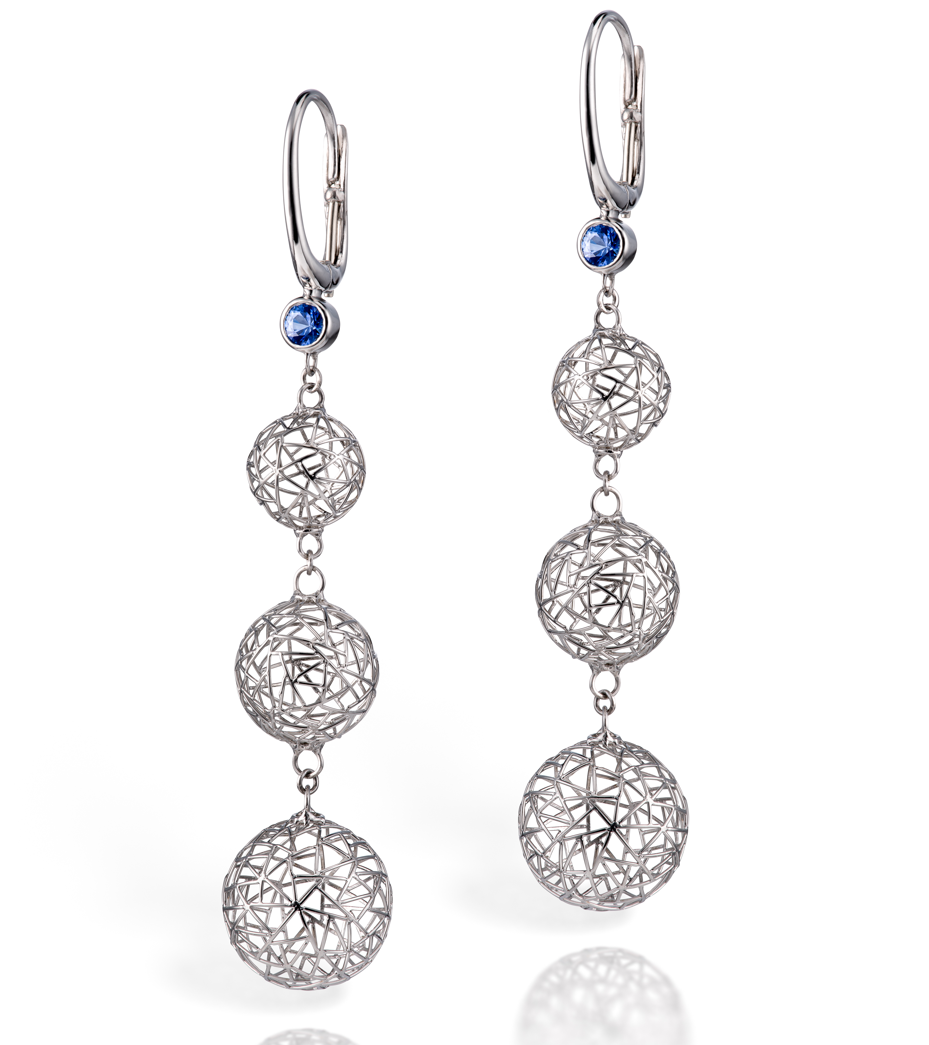 Baiyang Qiu sapphire earrings | JCK On Your Market