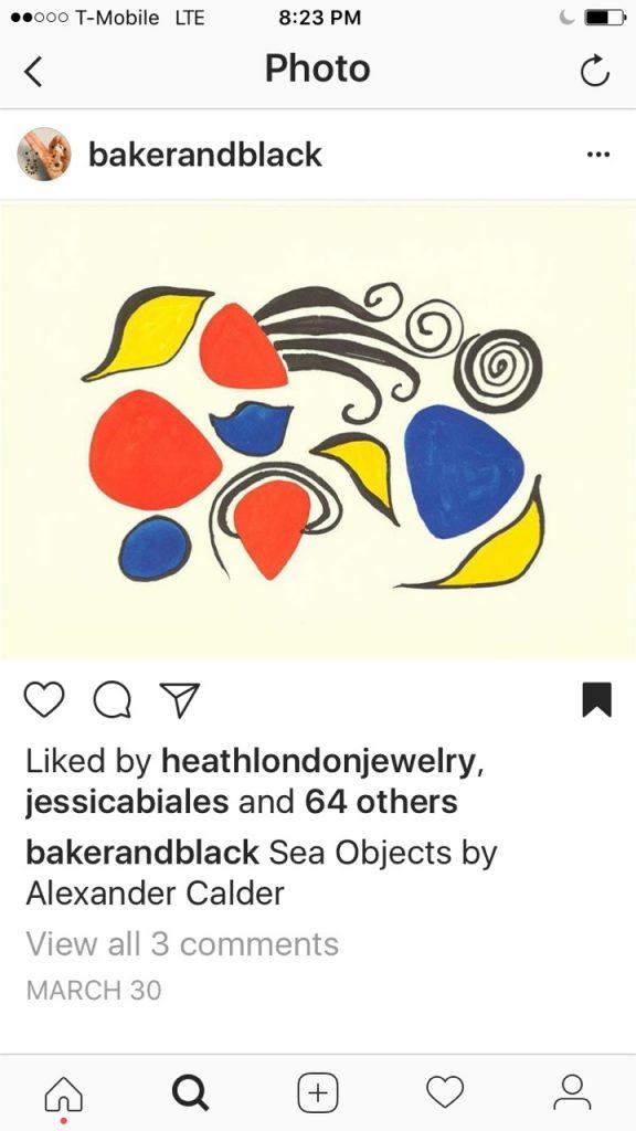 Baker and Black Instagram Sea Objects by Alexander Calder