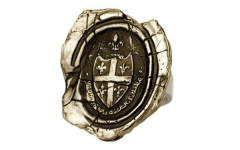 Bronze Five Fleur De Lys ring