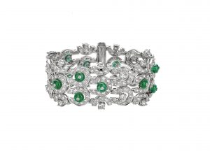 Bracelet with gold enamel diamonds and more