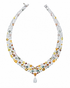 Lotus by De Beers diamond collar